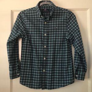 Boys Vineyard Vines flannel plaid shirt